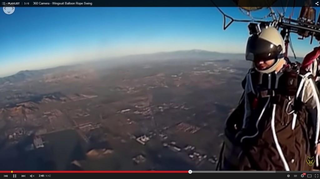 Vidéo Youtube Wingsuit 360