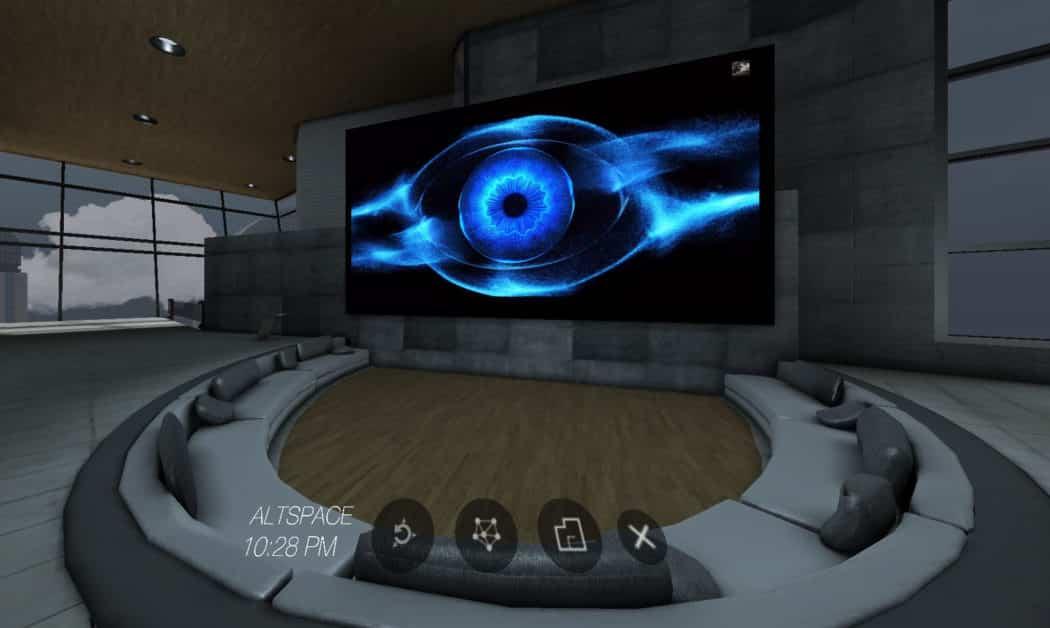 AltspaceVR salon écran