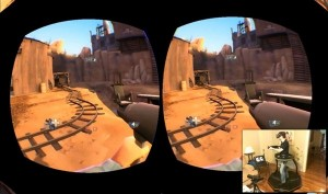 virtual reality video game