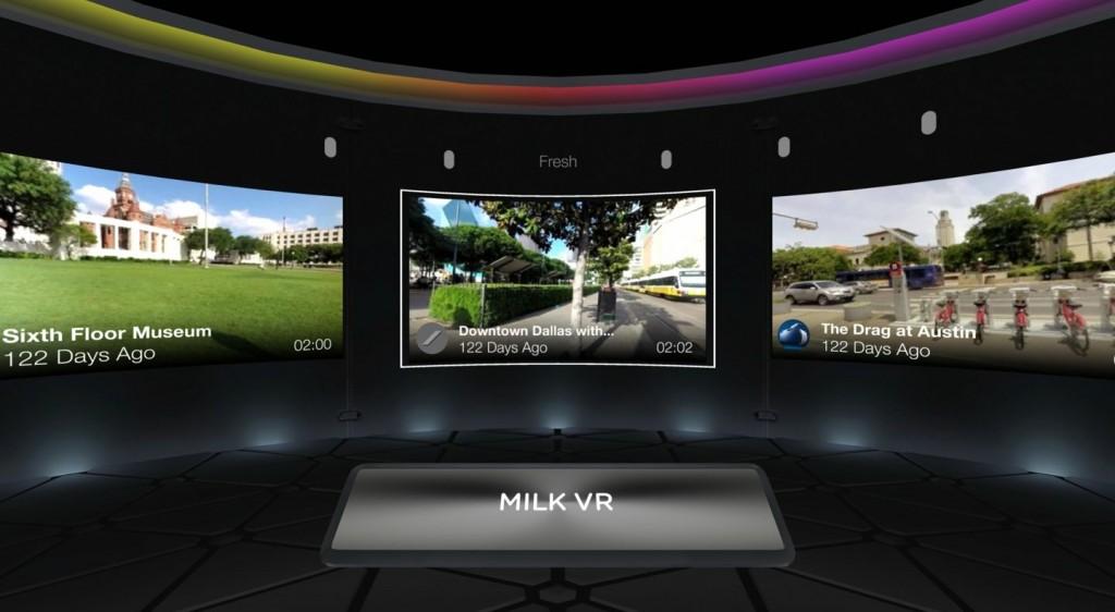 Milk VR pour Gear VR