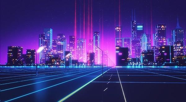 ville rétrofuturiste