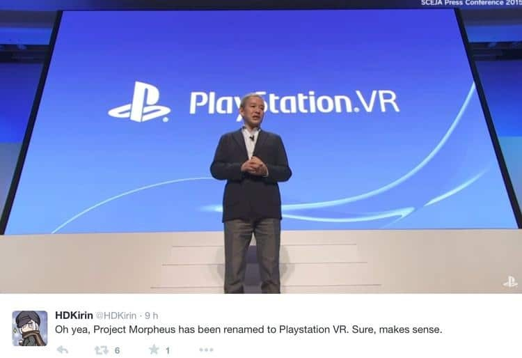 Playstation VR conference