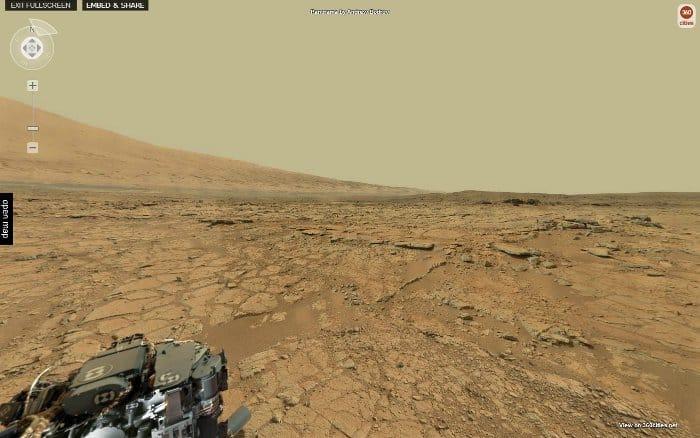Vue de la caméra 360 sur Mars