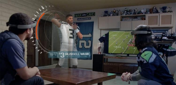 Super Bowl réalité augmentée