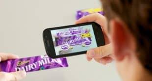 Utilisation de Blippar pour Cadbury