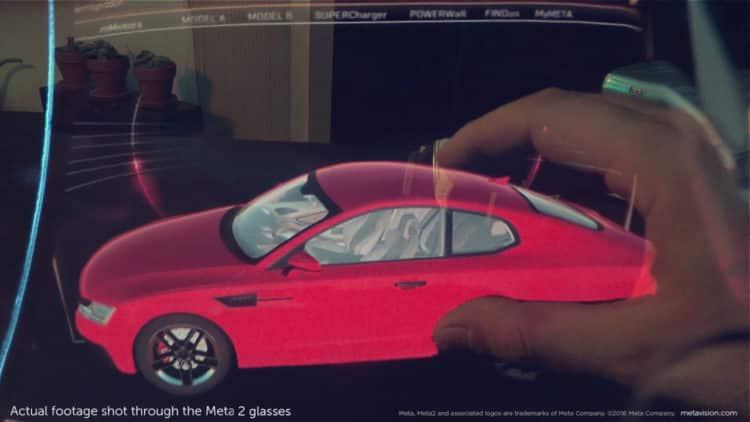 Meta 2 augmented reality interface