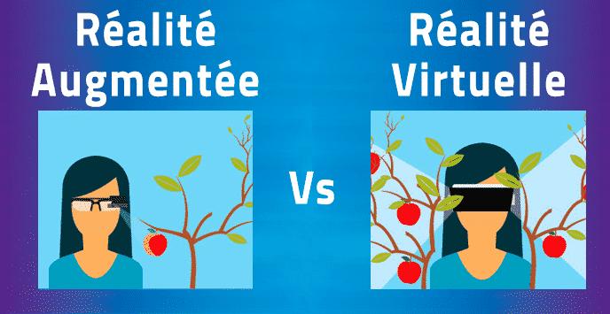 réalité augmenté vs réalité virtuelle
