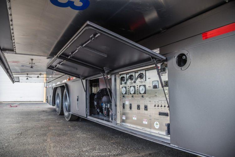 Extérieur du camion NextVR de vidéo à 360°