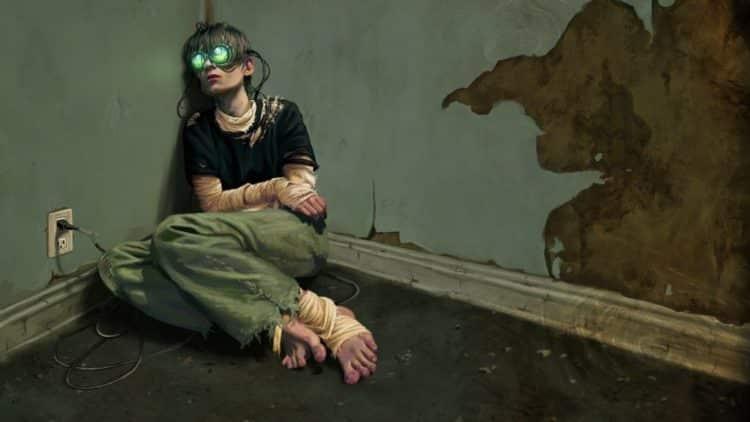 Dessin représentant l'addiction à la réalité virtuelle