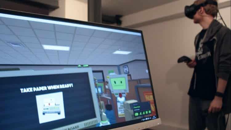 Test HTC Vive Job Simulator