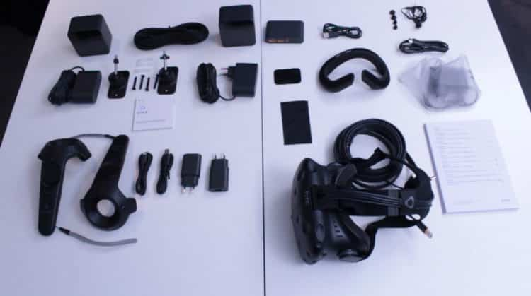 Test HTC Vive unboxing