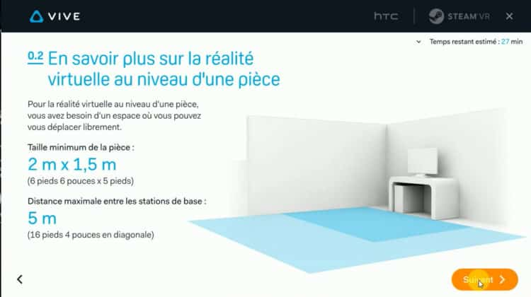 Test HTC Vive configuration