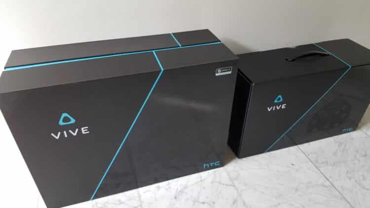Unboxing nouvelle boite HTC Vive
