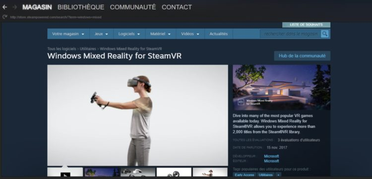 windows mixed reality steam vr app