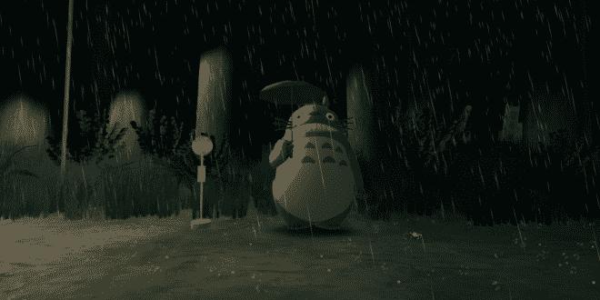 Une scène de Mon Voisin Totoro de Myazaki