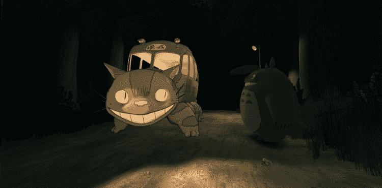 Extrait de l'éxpérience en réalité virtuelle Mon Voison Totoro de Myazaki