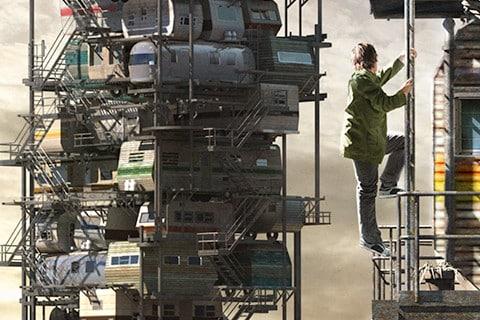 Une photo de concept art du film Ready Player One de Steven Spielberg