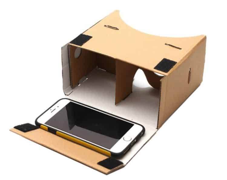 Cardboard et iphone