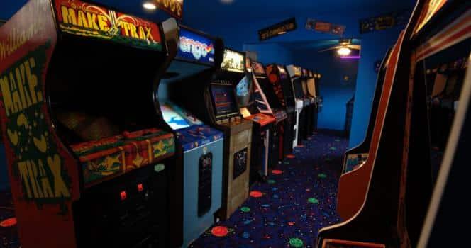 Arcade premi re salle de jeux en vr au canada for 80s wallpaper home