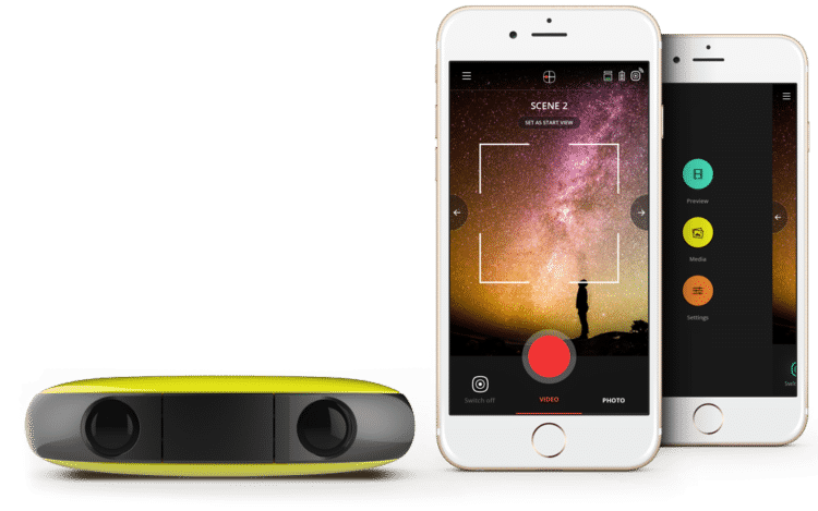 L'application de montage de la caméra Vuze