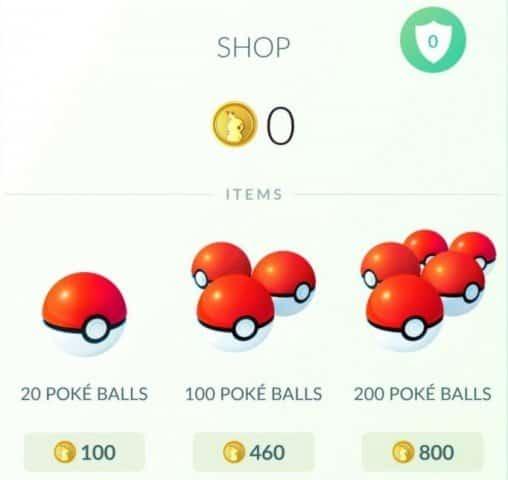 Poképièces gratuites Pokémon GO