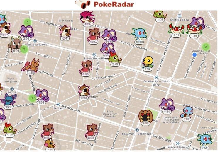 Pokémon GO alternative Pokévision