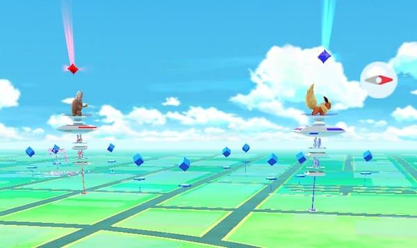 Arènes Pokémon GO poképièces