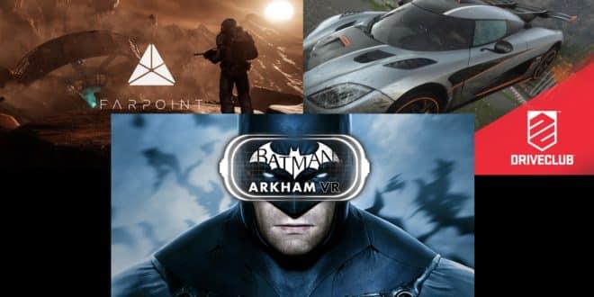 PlayStation VR PS VR Batman Farpoint Driveclub