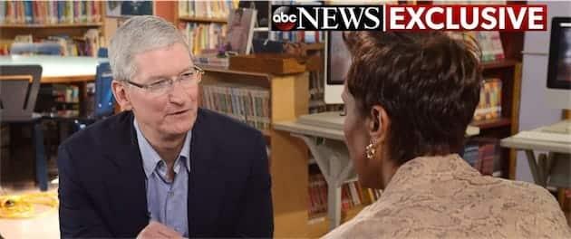 Apple Tim Cook Interview Augmentée Virtuelle réalité