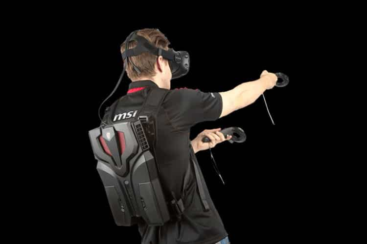 MSI VR One Sac Dos HTC Vive