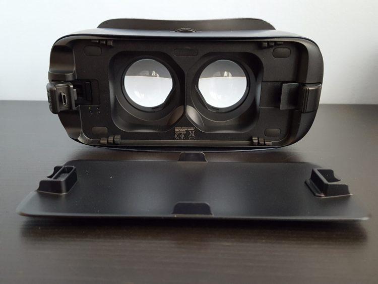 Samsung New Gear VR Test Lentilles Graphismes avant couvercle noir 2016 v2