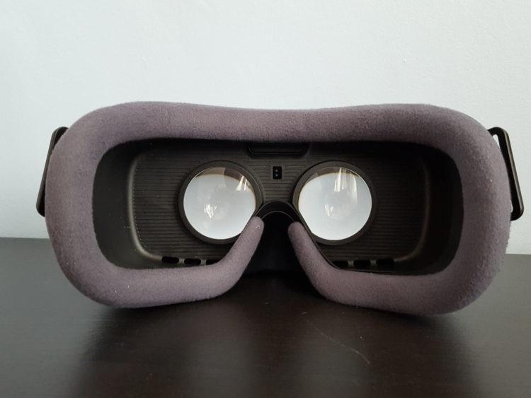 Samsung New Gear VR Test Lentilles Graphismes noir 2016 v2 casque