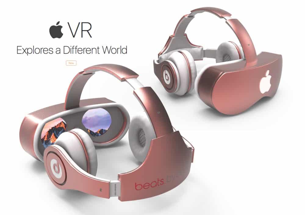 apple vr  superbe concept de casque de realite virtuelle