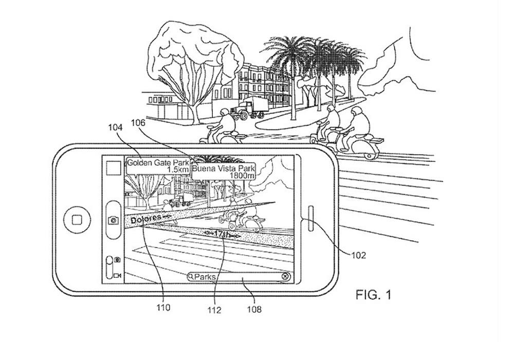Brevet Apple cartographie en réalité augmentée