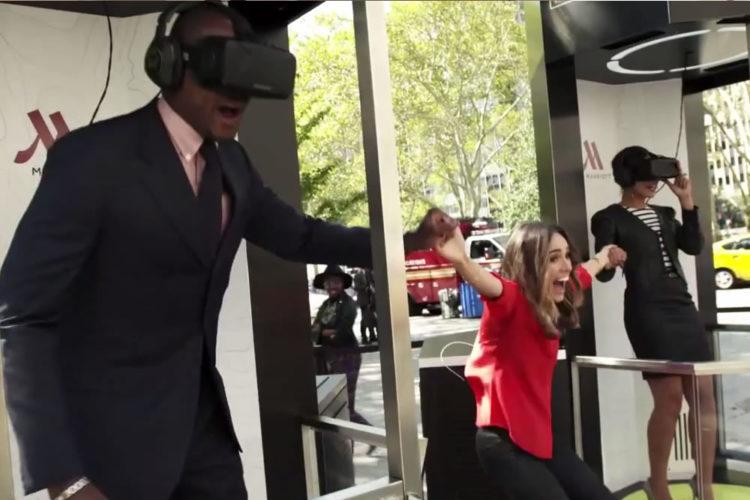 Expérience réalité virtuelle sensationnelle