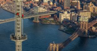 man on spire new york times