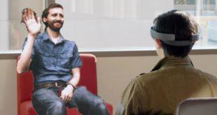 microsoft holoportation réalité augmentée hololens téléportation communication