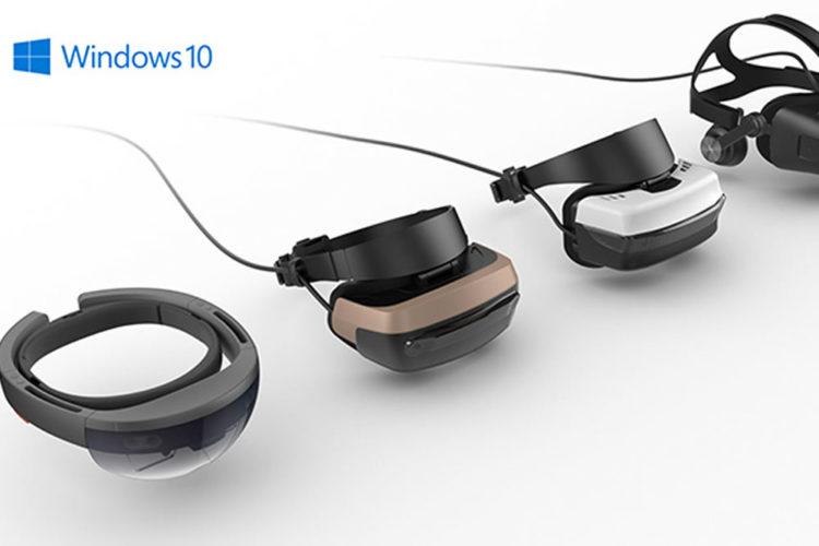 Microsoft Windows plateforme réalité virtuelle réalité augmentée 2017