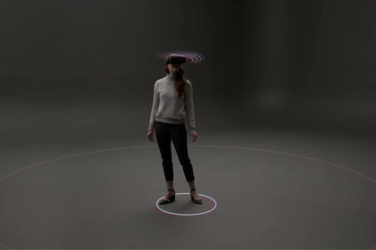 Microsoft World Scale capeuts mouvement intégrés casque réalité virtuelle