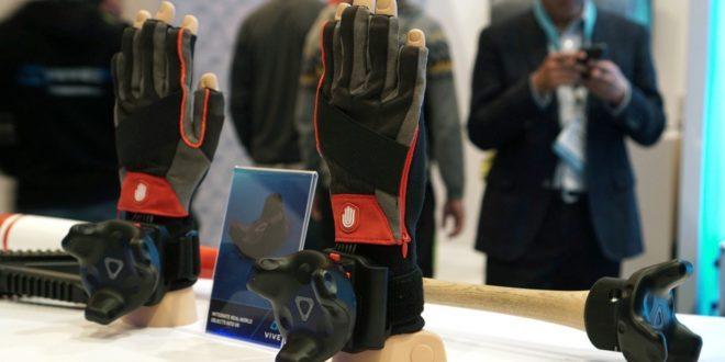 Noitom hI5 vr gLOVE ces 2017 Las Vegas gants HTC Vive Tracker gants trackers mouvement capteur main doigts