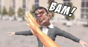 """""""Je t'offre une Valls"""" jeu réalité virtuelle gifler Manuel Valls"""