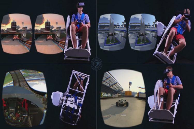 MMONE bras articulé simulation en réalité virtuelle mouvements accélérations