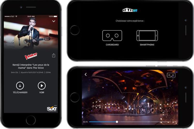 Application MyTF1 VR The Voice février 2017