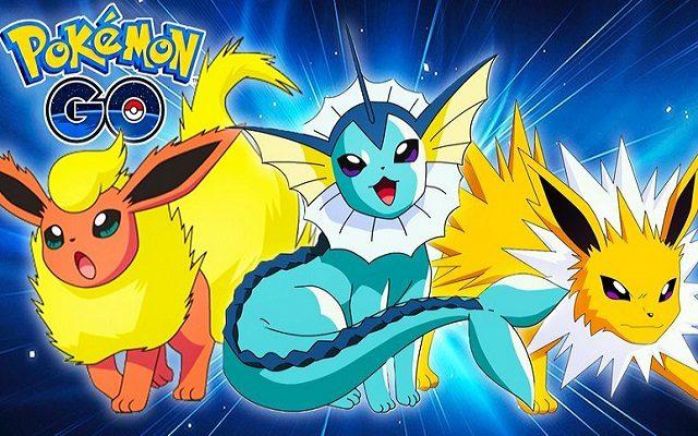 pokémon go aquali voltali pyroli evoli évolution