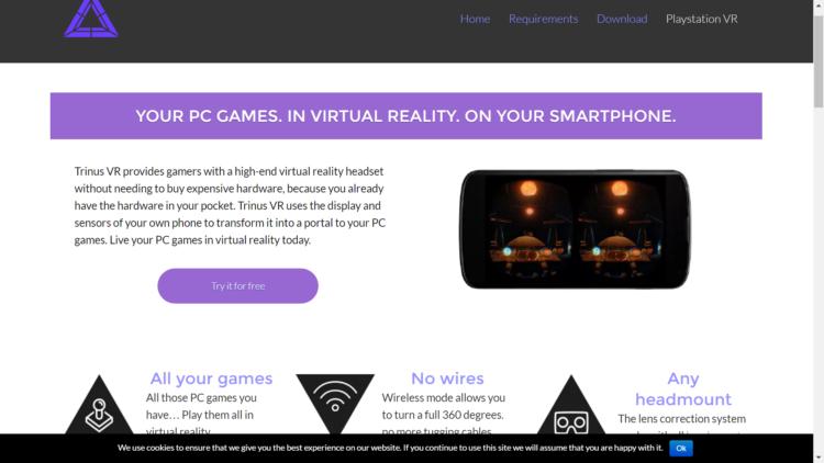 Trinus VR - Jouer à tous les jeux PC en VR sur smartphone et
