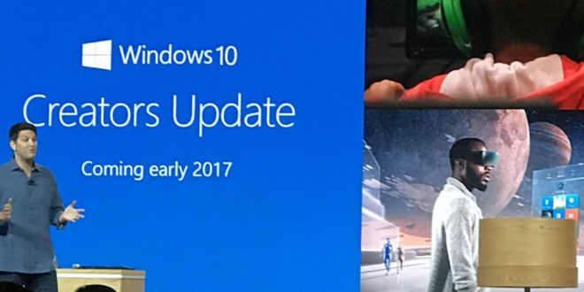 Windows 10 Creators Update sortie avril 2017 VR AR moteur 3D