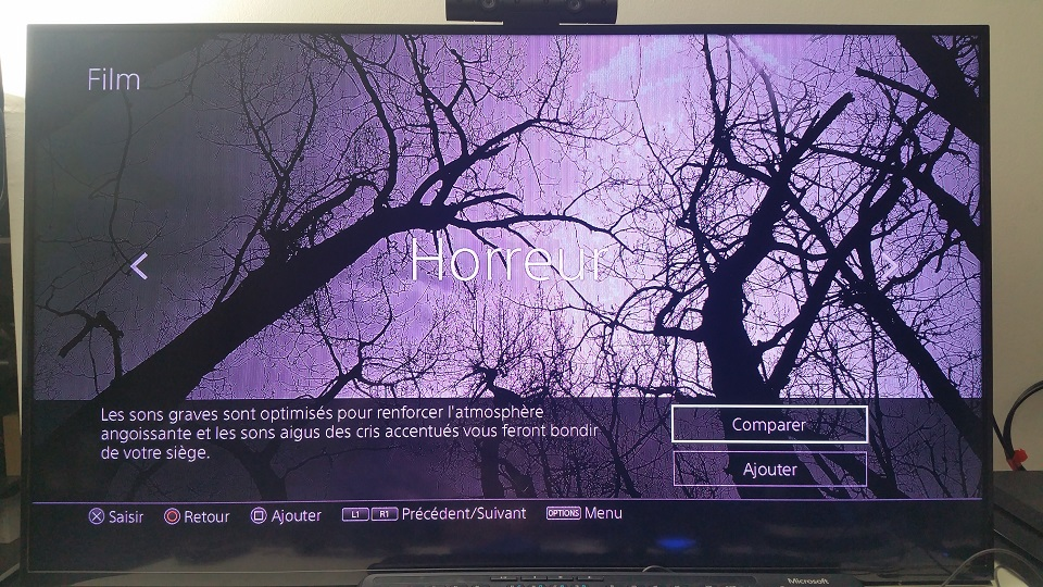 film horreur test son playstation platinum