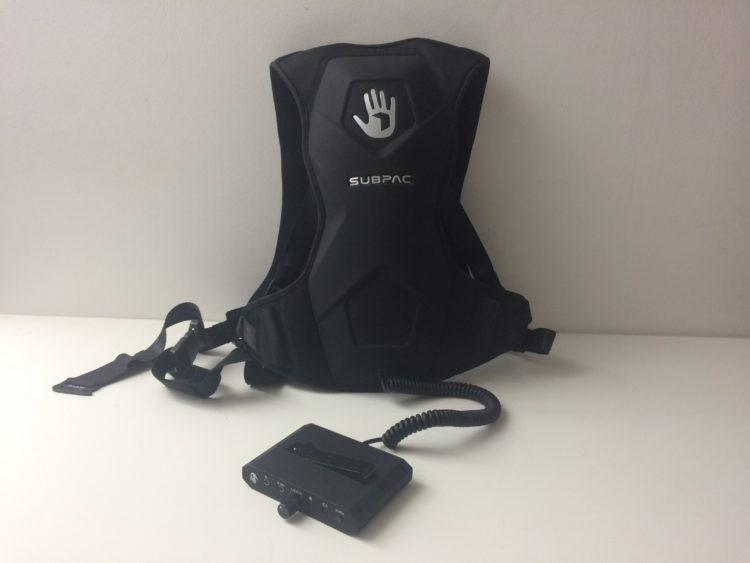 Subpac M2 accessoire VR son fréquence basseveste sac à dos unboxing carton accessoires
