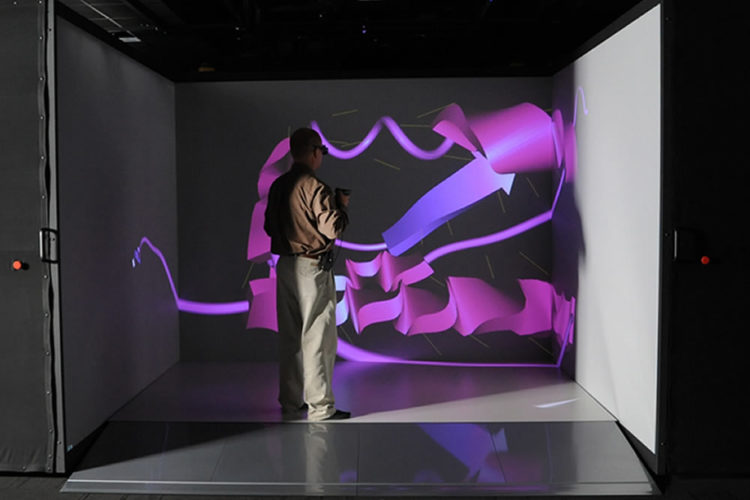 CAVE salle immersive 3D réalité virtuelle