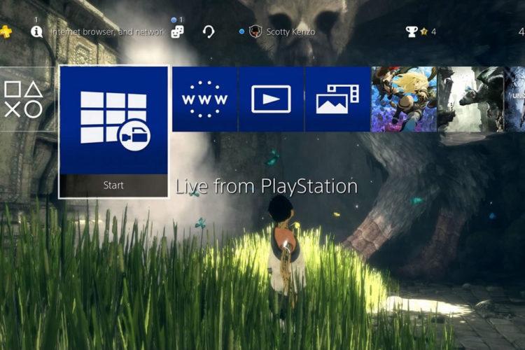 Nouveautés mise à jour PS4